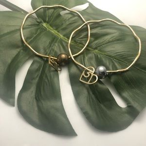 Plated Bangles with pearls